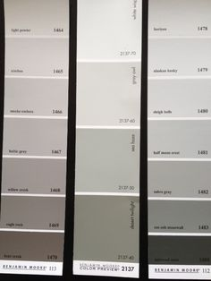 1 misty gray 2 tundra 3 silver satin 4 sea haze 5 for Benjamin moore misty grey