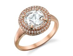 Irene Neuwirth Rose-Gold diamond engagement ring. gettin ideas :)