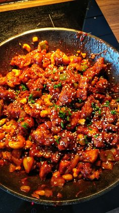Kung Pao Chicken, Wok, Yummy Food, Ethnic Recipes, Pineapple, Delicious Food