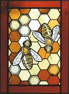 bee stained glass pattern - Google Search