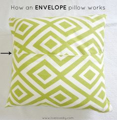 How To Make a Pillow With Glue - a really easy no-sew pillow tutorial