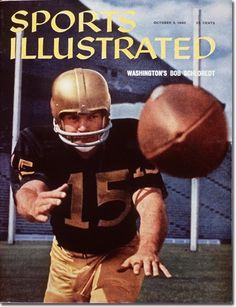 """Bob Schloredt ~ """"Robert Schloredt is a former college football quarterback for the Washington Huskies. He was awarded the 1959 W.J. Voit Memorial Trophy as the outstanding football player on the Pacific Coast. He is the first, of only four players (the others are Ron Dayne, and Charles White and Vince Young), to be twice named the Most Valuable Player of the Rose Bowl. He is blind in his left eye."""""""