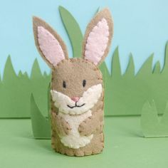 Felt Finger Puppet: Bunny