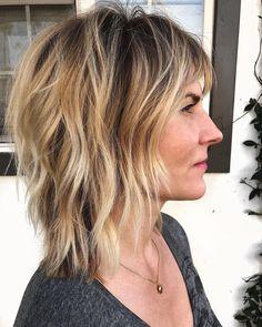 Lob Hairstyle, Long Bob Hairstyles, Trending Hairstyles, Retro Hairstyles, Weave Hairstyles, Medium Hair Styles, Short Hair Styles, Bobs Blondes, Modern Shag Haircut