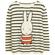 Miffy Stripe Cream Cashmere Sweater (£350) ❤ liked on Polyvore featuring tops, sweaters, striped knitwear, cream top, white striped sweater, wool cashmere sweater and white cashmere sweater