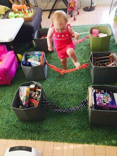 Obstacle course for toddlers, gross motor skills. active toddlers, 30 activities for 18-24 month olds, rainy day activities