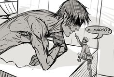 Marco Bott x Jean Kirstein no no please this can't happen no if this happens I will cry forever omg no