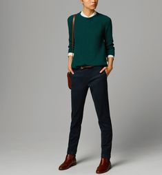 CHINOS WITH TURN-UPS - View all - Trousers - WOMEN - United States of America / Estados Unidos de América