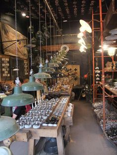 love what this shop sells--love the lighting too || Tombées du Camion | Paris