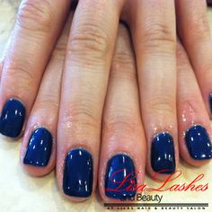 Navy Acrylic Nails in Burnley