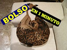 Como hacer un Bolso EN UN MINUTO - HOW TO MAKE A BAG IN A MINUTE