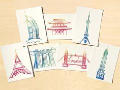 Iconic Cities Postcard Set