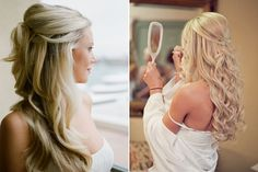Gorgeous half-up hair!