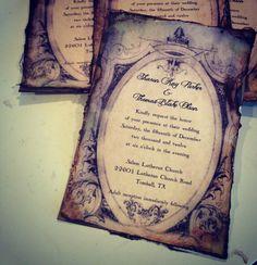 Art Deco Vintage Wedding Invitation by ShabbyScrap on Etsy, $4.00
