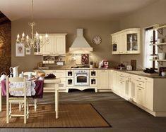 100 Küchen Designs – Möbel, Arbeitsplatten und zahlreiche Einrichtungslösungen - feminine einrichtung küche wandgestaltung kronleuchter teppich möbel