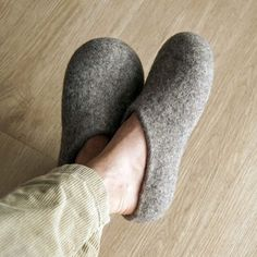 Felted wool slippers hand crafted in Greece. They are soft and warm without making your feet overheat. For comfy healthy feet all year round. Felted Wool Slippers, Felt House, Felt Cat, Wool Felt, Greece, Crafting, Just For You, Comfy, Warm