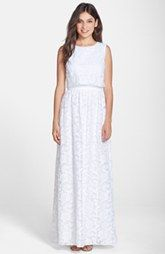 ERIN erin fetherston Embroidered Organza Popover Maxi Dress