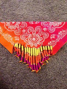 Sunset Kandi Bandana i love this Raves, Bandana, Rave Festival, Festival Gear, Kandi Mask, Kandi Bracelets, Rave Gear, Kandi Patterns, Pony Beads