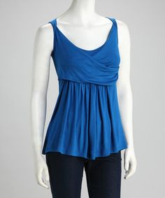Loving this Royal Blue Cross-Front Top on #zulily! #zulilyfinds