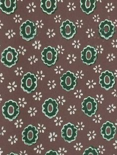 vintage wallpaper brown and green geometric