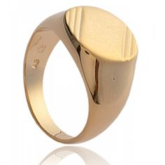 Men gold plated Kyllini signet rings