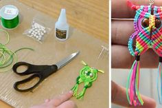 Two tutorials to learn how to make a little owl with satiny rope Diy And Crafts, Crafts For Kids, Duct Tape Crafts, Quilling Earrings, Micro Macramé, Little Owl, Macrame Patterns, Pearler Beads, Key Fobs