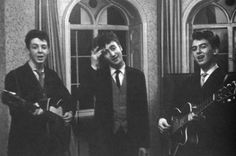 """December 20, 2013. 55 years ago today, Paul McCartney, John Lennon, and George Harrison, then known as """"The Quarrymen"""" performed at George's brothers wedding in Speke, Liverpool. #deepcor #thebeatles #thequarrymen #lennon #mccartney #harrsion #vintage #music #rockandroll"""