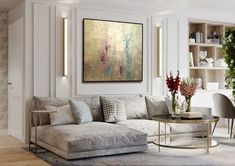 Contemporary living room with small rooms contemporary sofa chair - Home Page Plafond Design, Appartement Design, Classic Interior, French Interior Design, Contemporary Interior, Contemporary Chandelier, Contemporary Apartment, Contemporary Stairs, Kitchen Contemporary