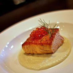 Loch Duart Seared Salmon  For recipe: http://lochduart.com/recipes/loch-duart-seared-salmon/