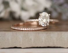 ****Engagement Ring Details**** 14k Solid Rose Gold (Also can be made in White and Yellow Gold, Please select your choice At Checkout) 1.5-1.6mm (Approximate Band Width) Moissanite (Certified Charles & Colvard Forever Classic) Oval 8x6mm (Dimensions of Center Stone) 1.50 carats