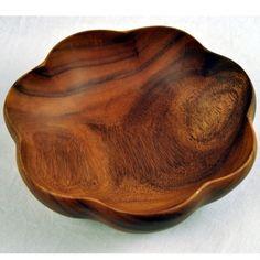 """12"""" Acacia Flared Bowlhttp://decoratetoday.athome.com/80000479-12-acacia-flared-bowl.html"""