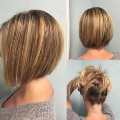 Sleek and Staggered Bob with Natural Highlights