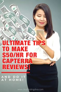 Check out these ultimate tips to make $50/hour writing quick reviews for Capterra. This is 100% legit. The proof is in the post! #sidehustles #makemoney #moneymaker #capterra #capterrareviews #freegiftcards #capterragiftcards