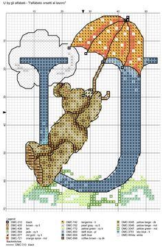 alfabeto orsetti al lavoro: U