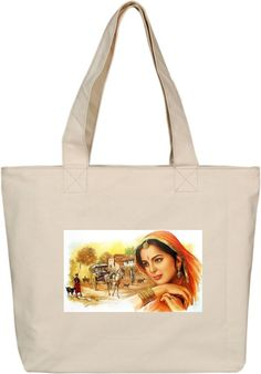 Oxa Printed Canvas Tote & Hand Bags