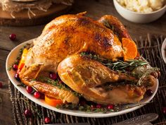 This simple grilled turkey recipe is fool proof and comes out moist and delicious every time. We love this delicious gluten-free recipe! Sage And Onion Stuffing, Turkey Recipes, Thanksgiving Turkey, Thanksgiving Recipes, Holiday Recipes, Happy Thanksgiving, Dinner Recipes, Grilled Turkey, Gastronomia