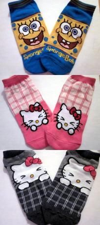 New 3 Pairs Cute Character Socks