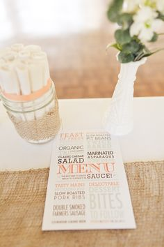 great looking menu- love the use of different fonts