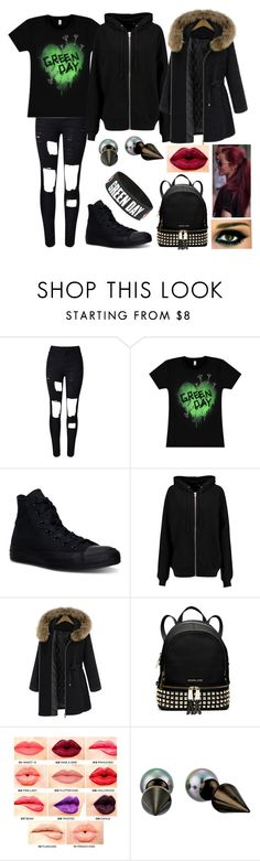 """She's a rebel"" by nena69 ❤ liked on Polyvore featuring Converse, BLK DNM, MICHAEL Michael Kors, NYX and Majorica"