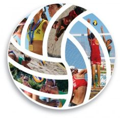 Beach volleyball - I like this for a scrapbook design.