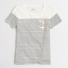 J.Crew Factory - Factory anchor striped collector tee in airy cotton $29.50