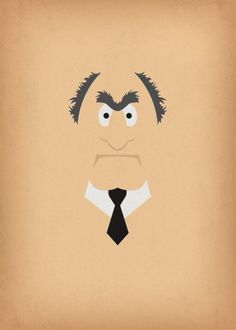 The Muppet Show Statler Minimalist Download Retro by TheRetroInc