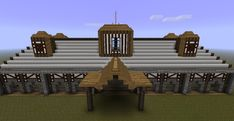 View from the front Medieval Horse, Medieval Town, Minecraft Horse Stables, Trap Door, Minecraft Projects, Texture Packs, Streamers, Beams, Pergola