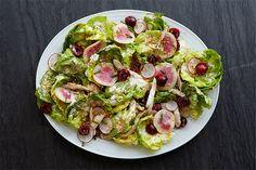 Bibb Lettuce, Chicken, and Cherry Salad With Creamy Horseradish Dressing