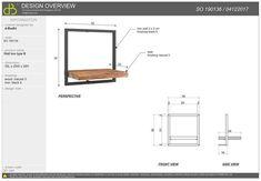 Shelfmate, type B - AFNAME per 5 Bar Set Furniture, Steel Furniture, Vintage Furniture, Wall Shelves Design, Metal Shelves, Shelf Brackets, Exterior Design, Interior And Exterior, Vintage Shelf