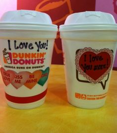 DIY Valentine's Day coffee cup art. Wouldn't this make you smile? #DDLove