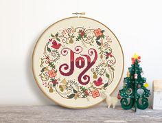 Christmas Joy Cross Stitch Pattern Digital Format by Stitchrovia