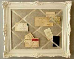 DIY Ideas for Repurposing Picture Frames...picture frame memo board