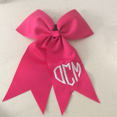 A personal favorite from my Etsy shop https://www.etsy.com/listing/265048285/monogrammed-bow