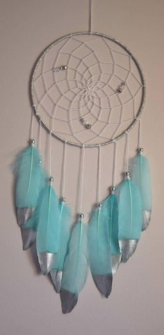 Native American Style Silver Dream Catcher Boys Girls Room